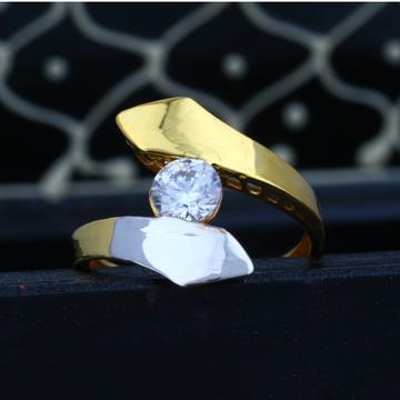 22KT Gold CZ Valentine's Solitaire Ring JJLR-011