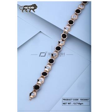 18 carat Rose gold rudraksh gents bracelet rxg0007 by
