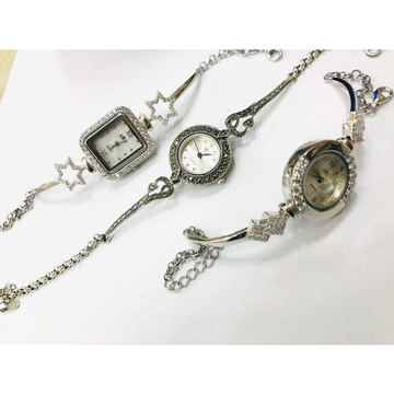 92.5 sterling silver oxodize hand watch ms-3583