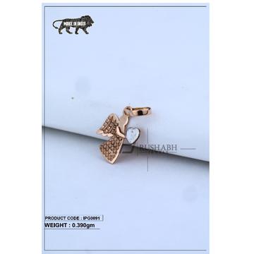 18 Carat Italian pendent rose gold bird shape ipg0091