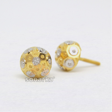 22ct 916 Fancy Yellow Gold Tops Rhodium