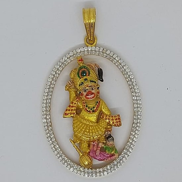 916 Gold Fancy Gent's kastabhanjan dev Pendant