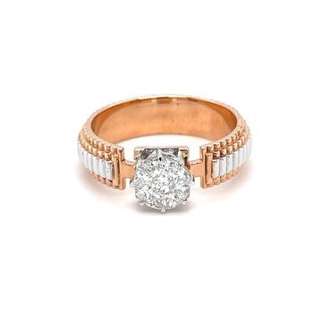 Watch Belt Design Engagement Ring for Gents - 0GR2...