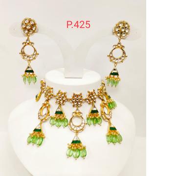 Kundan & Mint beads chokers necklace 1185