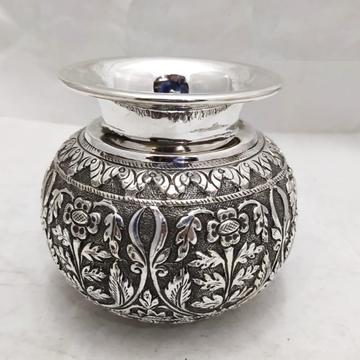 925 Pure Silver Lota Kalash in Fine Nakashii Work...