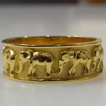 22kt gold elephant design ring for men by