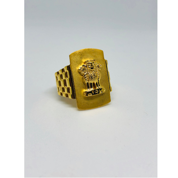 916 Gold Ashok Stambh Design Ring For Men KDJ-R005