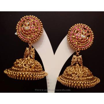 916 Gold Antique Jummar Earrings MK-E01 by