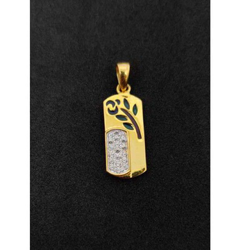 22k Gents Fancy Gold Pendant P-44535