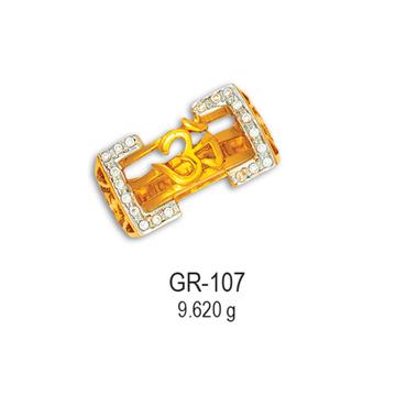 22KT-CZ-Gold-Om-Design-Gents-Ring-GR-107