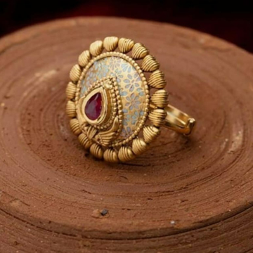22k Jadtar Ring Antique by