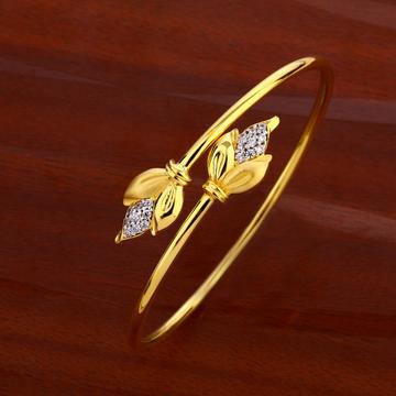 18CT CZ Women's gorgeous Hallmark  Kada Bracelet L...
