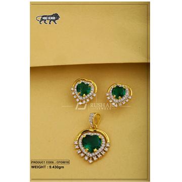 Ladies Colour Stone Pendent Set CPG0018
