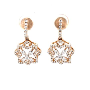 Diamond latkan with floral design in 18k rose gold...
