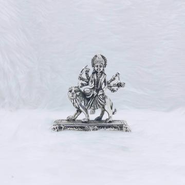 hallmarked silver idol of durga mata ji in antique...