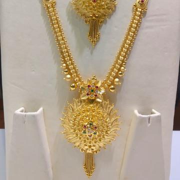 22kt gold handmade savithri fusion Haram by