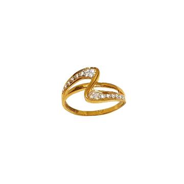 22K Gold CZ Diamond Fancy Ring MGA - LRG1122
