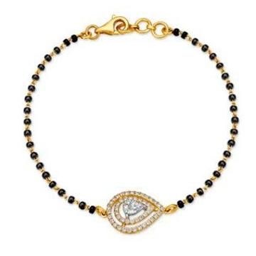22kt Gold Mangalsutra Bracelet by
