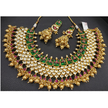 Traditional Kundan Bridal Necklace Set
