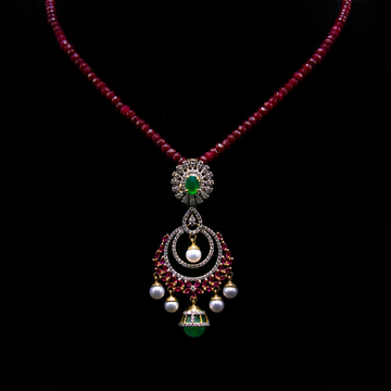 18 gold latkan pendant set agj-ps-152
