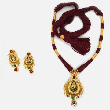 916 Gold Antique Necklace Set RHJ-4768