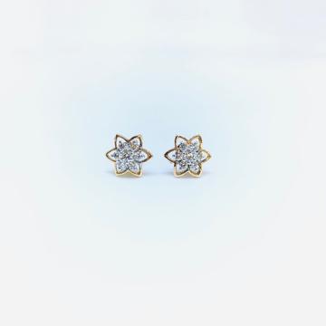 Fancy ROSE GOLD REAL DIAMOND EARRINGS by