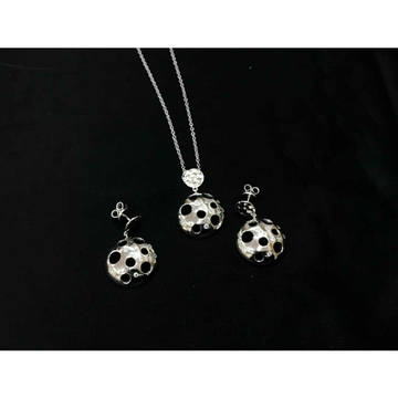 92.5 Sterling Silver Rodyam Small Size Earring Set Ms-3851