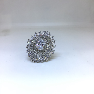 BRANDED FANCY STERLING SILVER RING by