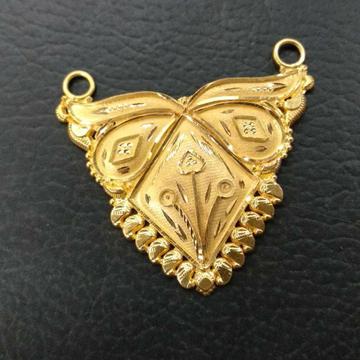 Plain Gold Mangalsutra Pendant by
