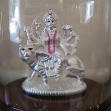 Silver attractive design maa durga Idols  by