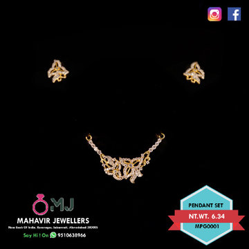 916 mangalsutra pendant with earring