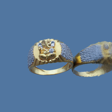 916 gold cz design ring