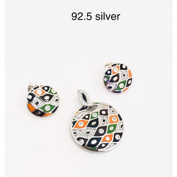 92.5 silver pendent set by