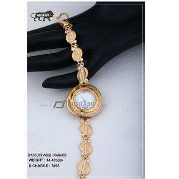18 Carat Gold Ladies rose gold watch Titan Raga rw... by