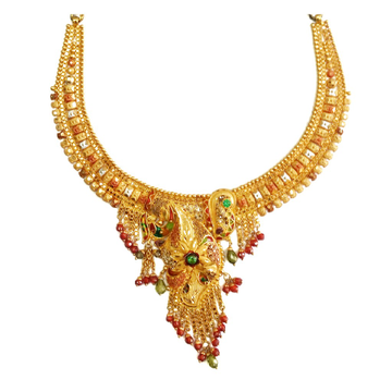 22k Gold Kalkatti Moti Wala Necklace MGA - GN061