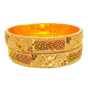 1 gram gold forming 2 piece patla bangles mga - kpe0008