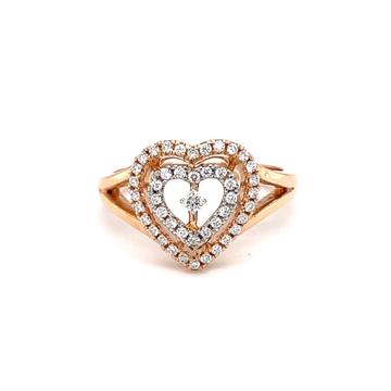 Dual heart with centre single diamond hallmarked l...