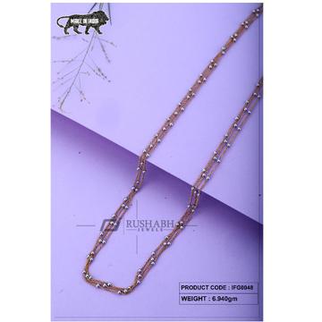 18 carat Italian ladies fancy gold chain exclusive chian ifg0048