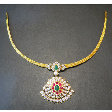 22kt gold close setting CZ Traditional South indian sarad Attigai(Adigai)