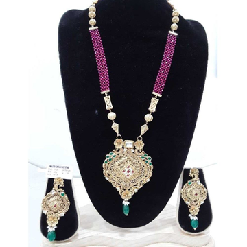 916 antique pink beads long designer  set