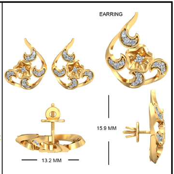 22Kt Yellow Gold Dhiya Earrings For Women