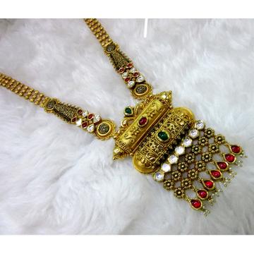 gold antique 22k designer unique bridal long necklace set