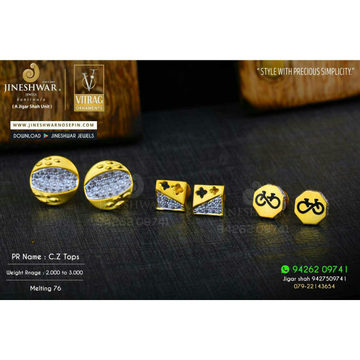 18kt Precious Cz Gold Fancy Ladies Tops ATG -0731