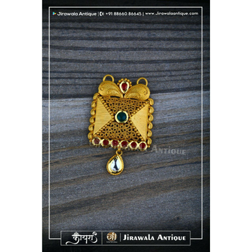 Antique Jadau 22CT 916 Mangalsutra Pendant With Veni Work.