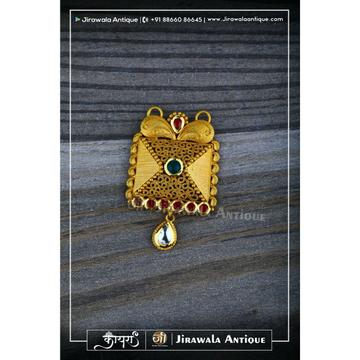 Antique Jadau 22CT 916 Mangalsutra Pendant With Veni Work.