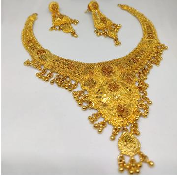 22 carat gold modern bridal set  RH-GS624