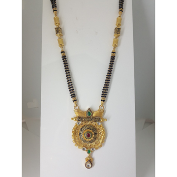 916 Gold Antique Long Mangalsutra IO-A016