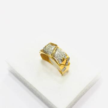 22kt, 916 HM, Yellow Gold AD design Ring For Men JKR207