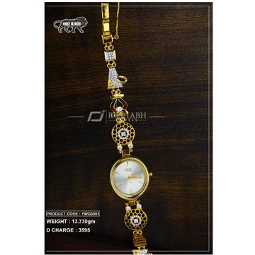 18 Carat Gold Ladies gold watch Titan Raga ywg0001 by
