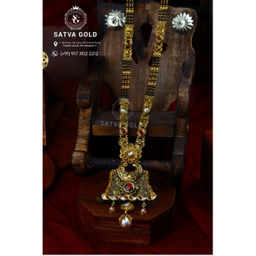 916 Gold Antique Mangalsutra AMG-016